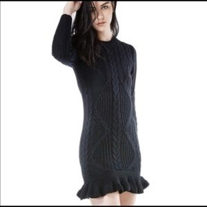 UNIF Alleger Cable Knit Sweater Dress